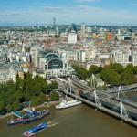 Вид с колеса обозрения, Лондон