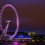 Пешеходный мост рядом с Лондоским колесом обозрения