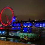 Ночной вид на Лондонский глаз