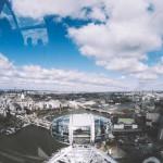 Вид на Лондон из капсулы колеса обозрения