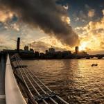 Вид на Темзу с моста Тысяилетия, Лондон