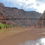 Черный мост на реке Колорадо в Гранд-Каньоне
