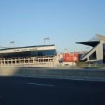 Вид на стадион Висенте Кальдерон с соседней улицы