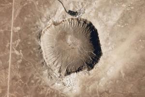 Вид на Аризонский кратер с космоса