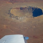 Вид с самолета на Аризонский кратер