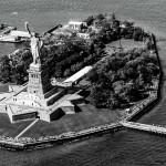 Вид сверху на Статью Свободы, Нью-Йорк, США