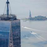 Вид с высоты птичьего полета на Статью Свободы