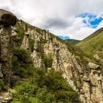 Вид на Каменные грибы Алтайского края