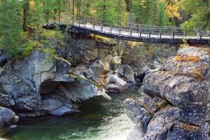 Подвесной мост через реку Чулышман