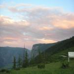 Вечером на перевале Кату-Ярык