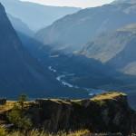 Вид на долину Чулышман с перевала Кату-Ярык