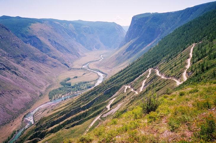 Вид на Чулышманскую долину с перевала Кату-Ярык