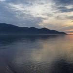 Закат на озере, Сибирь, Россия