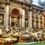 Фонтан на площади Треви, Италия