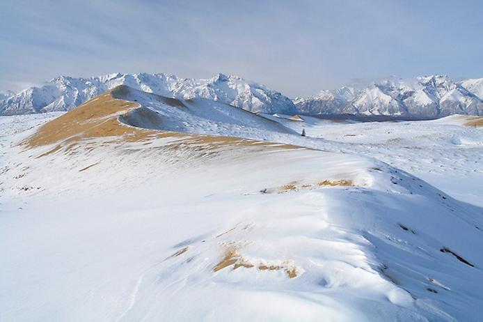 Заснеженная пустыня Сибири