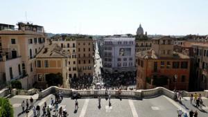 Вид со Святой лестницы в Риме