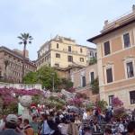 Туристы на Святой лестнице, Рим, Италия
