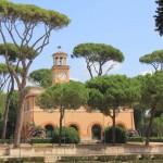 Одно из зданий парка в Риме