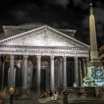 Пьяцца делла Ротонда, Пантеон / Рим ночью