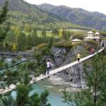 Подвесной мост на остров Патмос