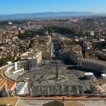 Площадь Святого Петра - вид с собора