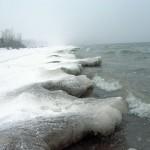 Ледяные языки на Обском море