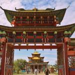 Главные ворота Иволгинского дацана, Бурятия