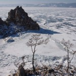 Скала Шаманка. Вид с о.Ольхон. Байкал