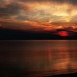 Закат в Сибири, Северный Байкал, Россия