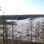 Устье реки Чамба - восточная граница заповедника