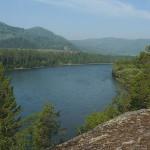 Вид на Бию с горы Баданка, в 9 км выше по течению от села Турочак