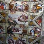 Роспись потолка Сикстинской капеллы в Ватикане