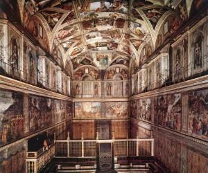 Внутри Сикстинской капеллы