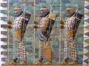 Персидские воины из гвардии «бессмертных»