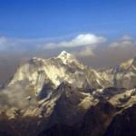 Вид на Эверест с самолета