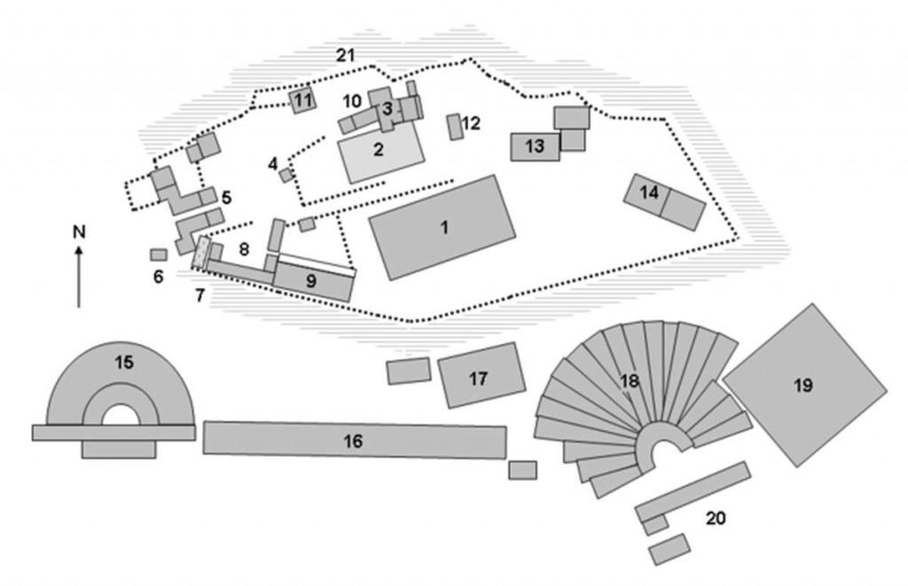 Схема Акрополя с подписями
