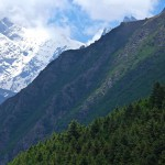 Снимок сделан в Chitkul, последней индийской деревне на границе Индии и Тибета в Киннаур Химачал-Прадеш