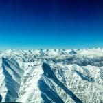 Вид на заснеженные Гималаи