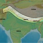 Расположение гор Гималаи на карте