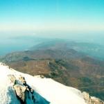 Вид на полуостров с верхней точки горы Афон