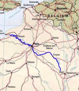 Сена пересекает Францию до пролива Ла-Манш