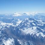 Вид с самолета на Кордильеры