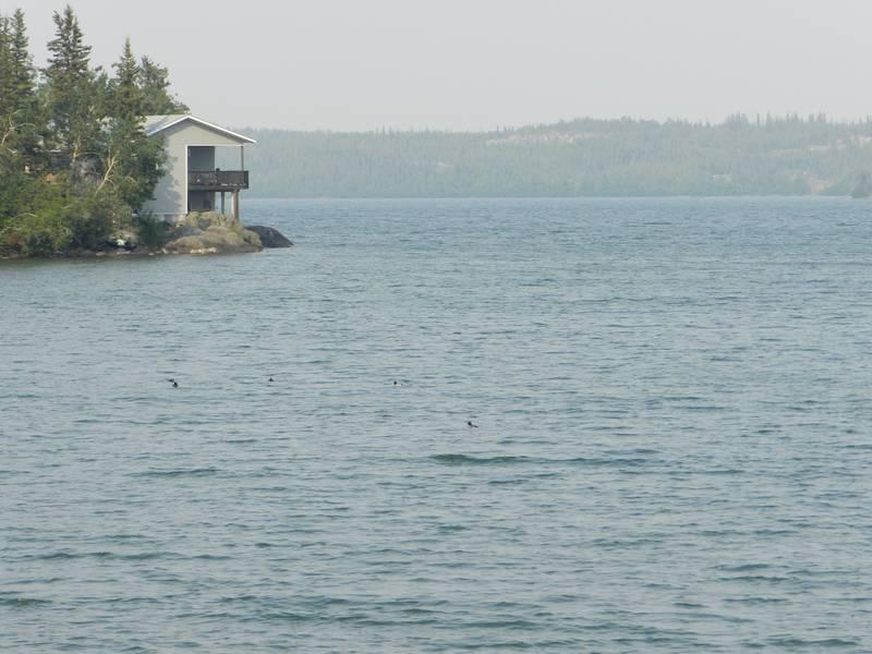 Дымка над Большим Невольничьим озером