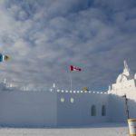 Ледовый замок на Большом Невольничьем озере