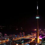 Высота башни со шпилем составляет около 554 метров