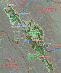 Парк Банф на карте