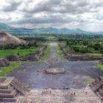 Панорамное фото пирамид Теотиуакана
