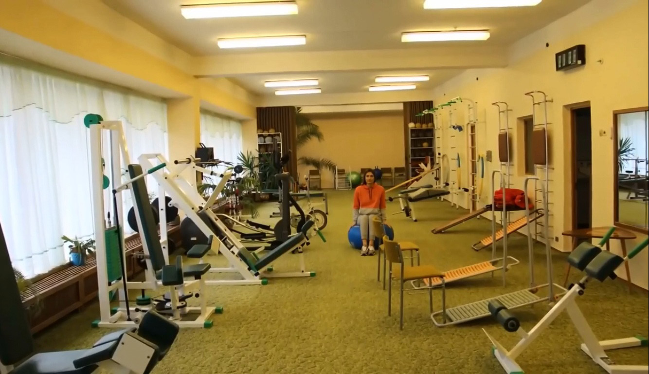 Дворец-санаторий Дюльбер в Кореизе в спортивном зале